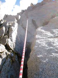 Looking up at the top part of pitch 4