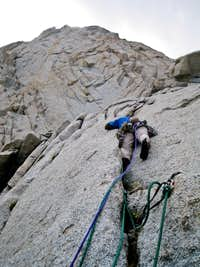 Andre on pitch 4 of Sweet Carillon