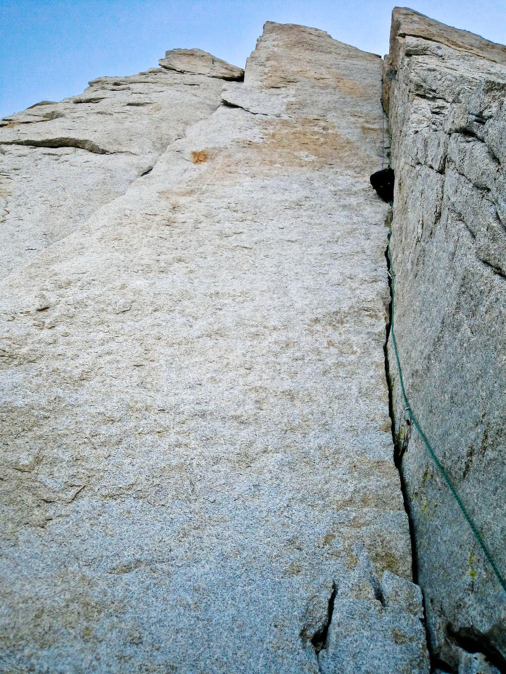 The classic Yosemite style dihedral of Sweet Carillon.