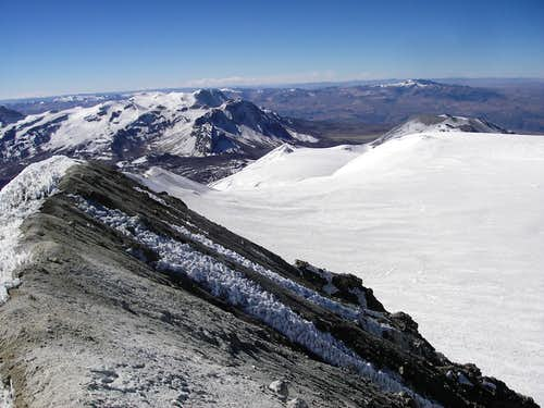 Hualca Hualca and Sabancaya From the Summit of Ampato