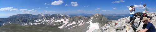 Panorama from the summit of Fletcher Mountain