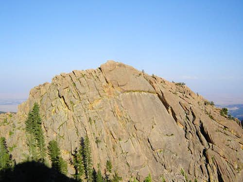 West face of the summit