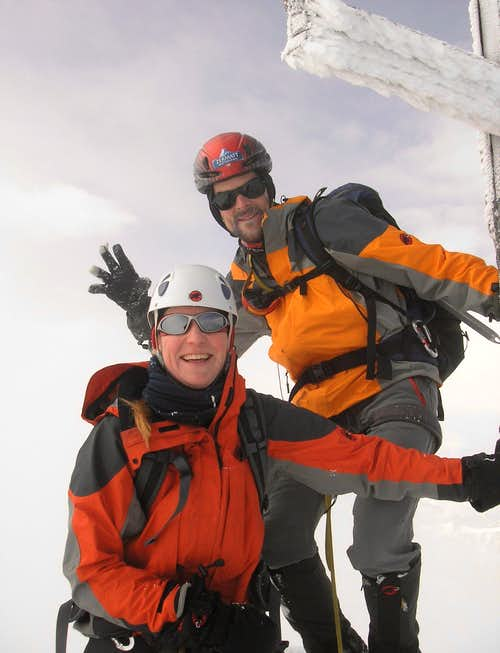 Summit cross of Weisshorn 4506m