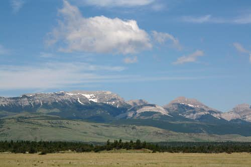 Choteau Mountain and Guthrie Peak