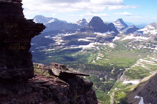Logan Pass from ascent of Piegan