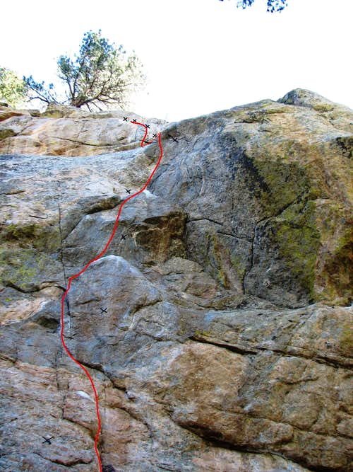 Route of  Animal Rights Activist  (5.12a)