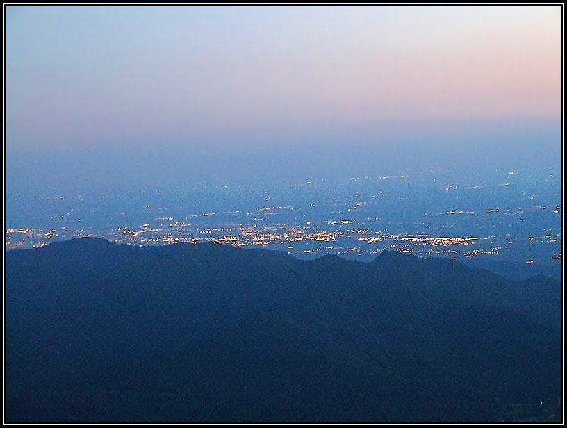 Udine by night from Musci bivouac