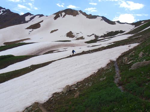 Nearing Trailrider Pass