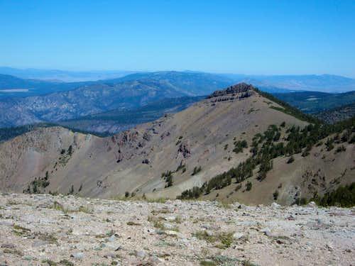 Castle below the summit