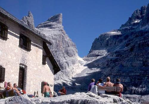 At Tuckett hut with Bocca di...
