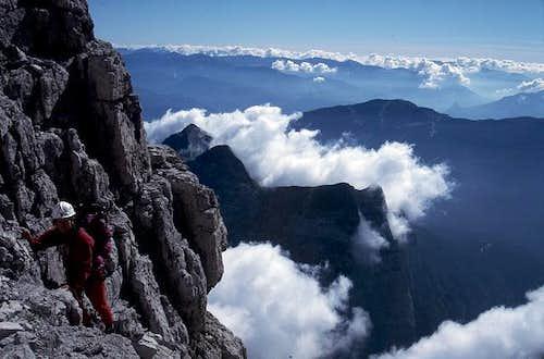 on the climb to Cima Brenta...