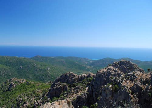 Mediterranean Sea from Punta d\'Ortu