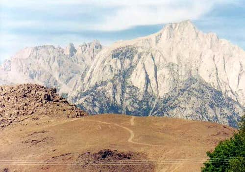 Shot of Whitney from Lone Pine