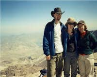 Andrew, Amy and Sarah on Mt....