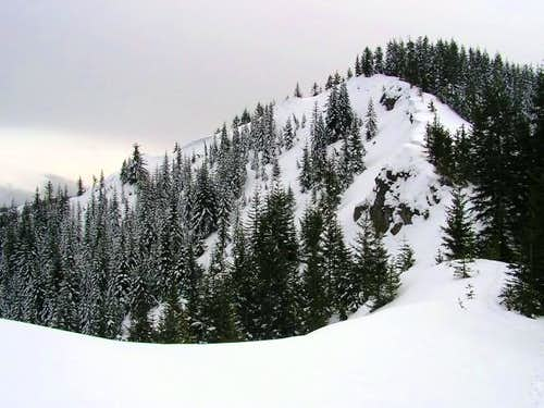 Looking up to the summit from...