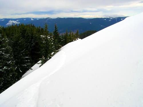 The snow traverse on the way...