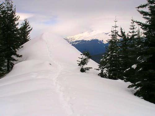 Walking the ridge back from...