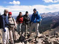 A cold group of Sopris summiters
