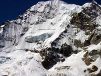 view of the 1000 m west face, June 08