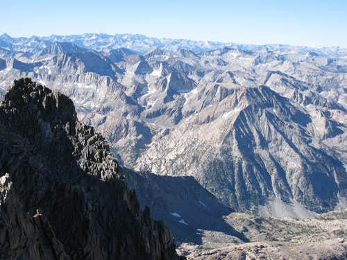 Panorama from near summit of Thunderbolt Peak