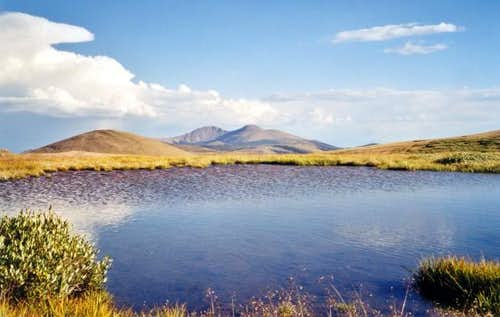 The Buffalo Peaks in the...