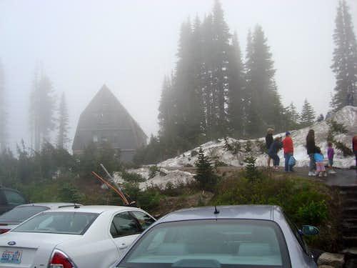 Guide Hut in the Fog