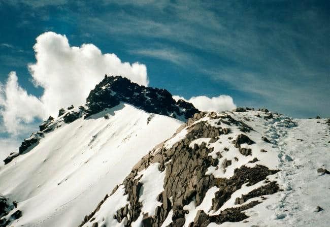 The final ridge and scramble...