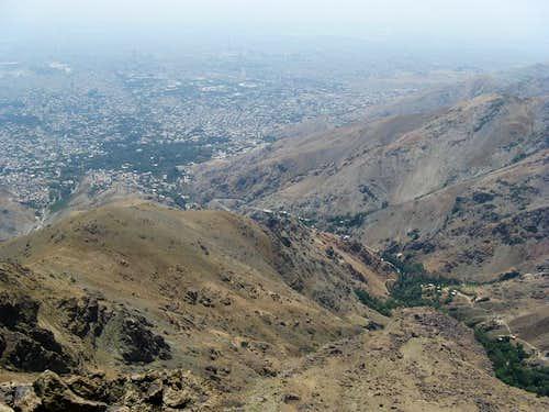 Tehran View from Spilet Peak
