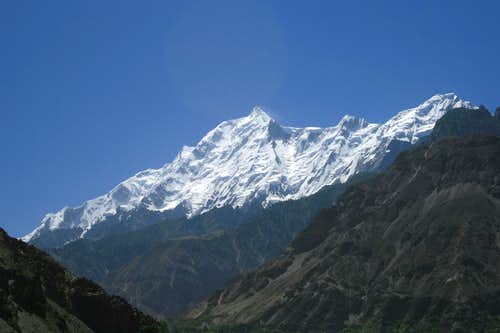 Rakaposhi (7788m) from the Karakoram Highway