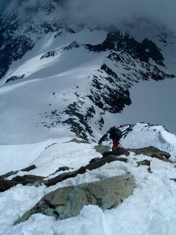At the summit ridge