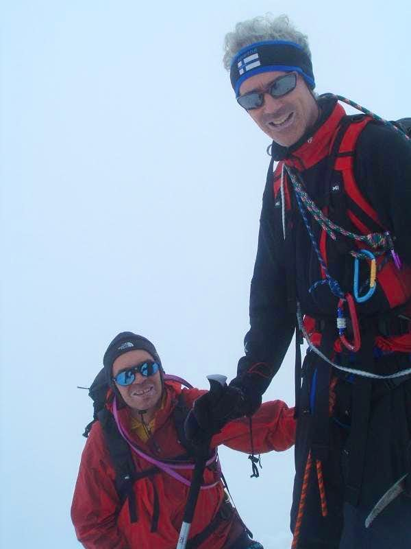 At Grossglockner summit ridge