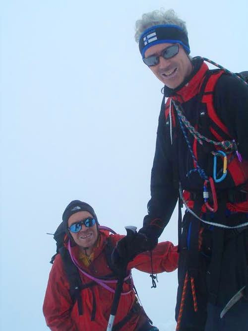 At Grossglockner summit ridge