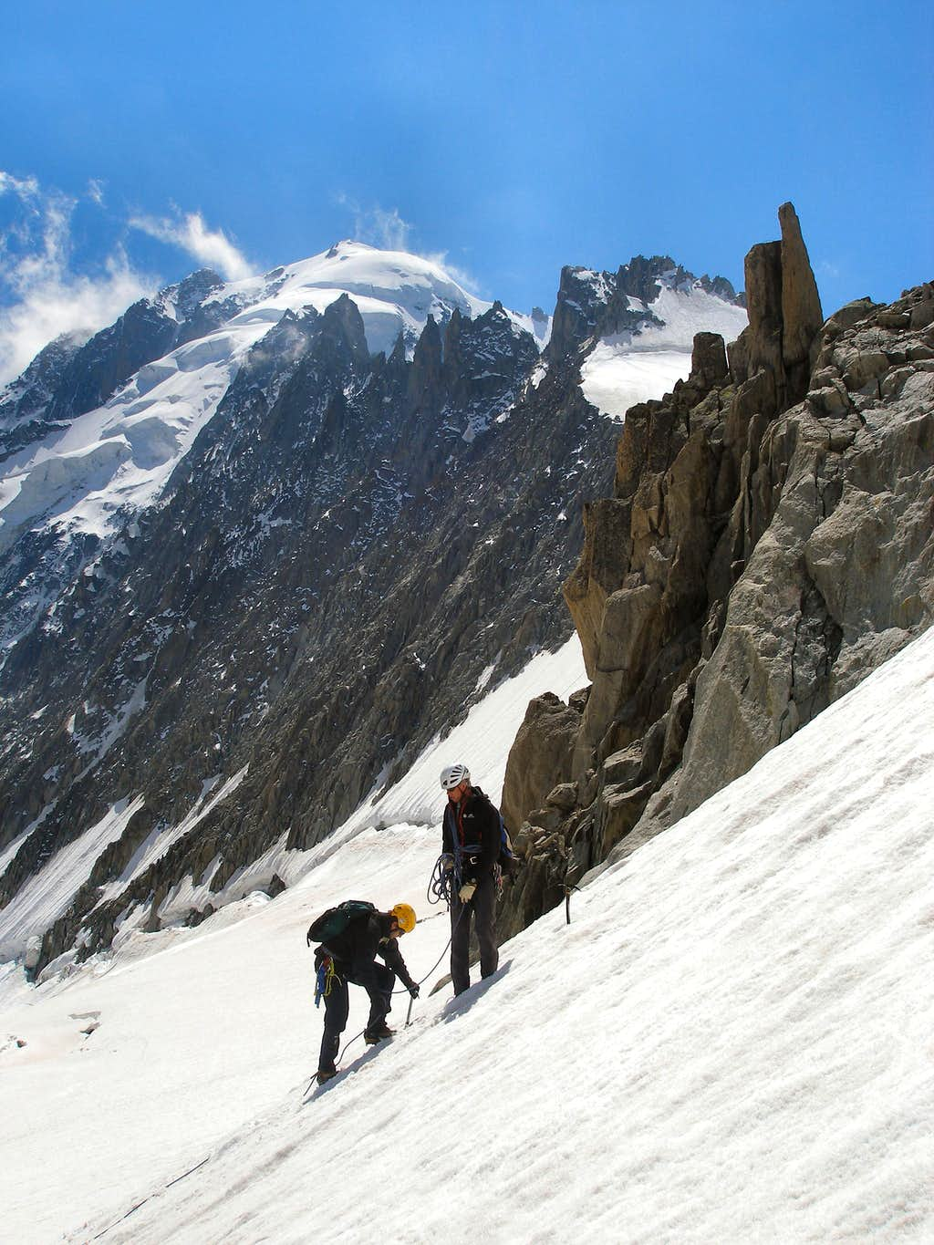 Andy and Phil on the Aiguille des Grands Montets