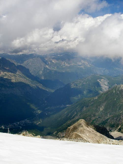 View from the Aiguille des Grands Montets