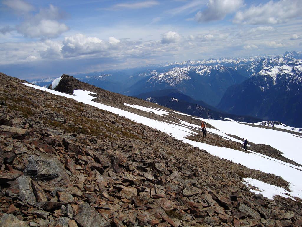 Nearing the summit of Mount Outram