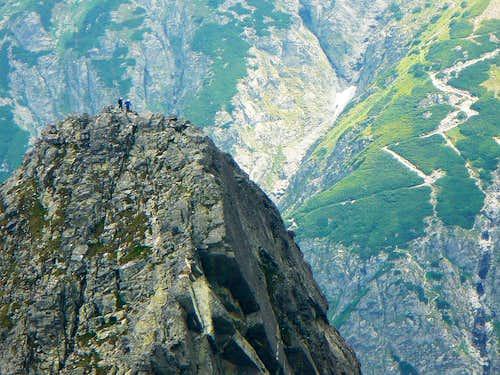 Climbers on the summit of Kozí stit