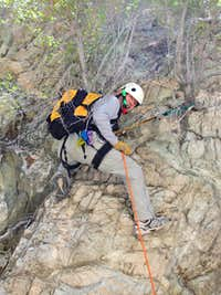Rappel in Colby Canyon, San Gabriel Mtns.