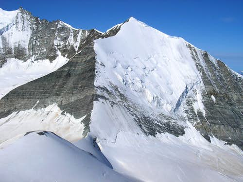 Bishorn 4153m - north wall