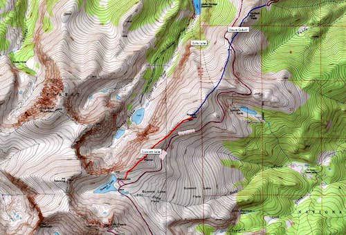 Rogers Peak, three primary routes