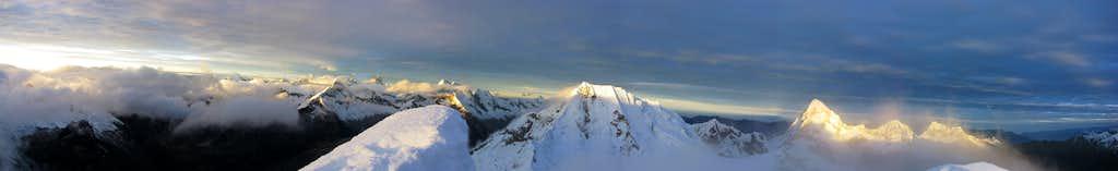 Panorama from Alpamayo Summit (5947m)