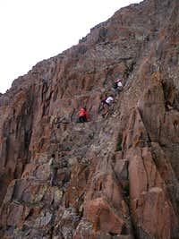 Climbing Wetterhorn Peak
