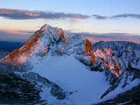 Arikaree Peak at sunset.