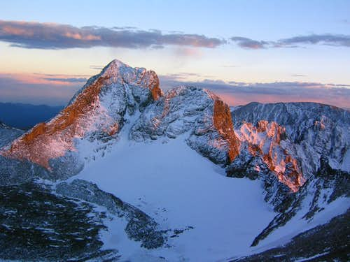 Arikaree Peak at sunset.