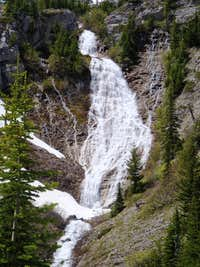 An Unnamed Waterfalls On Headquarters Pass Trail