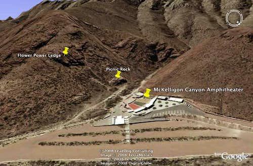 Google Earth McKelligon Canyon