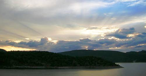 Sunset over Flaming Gorge