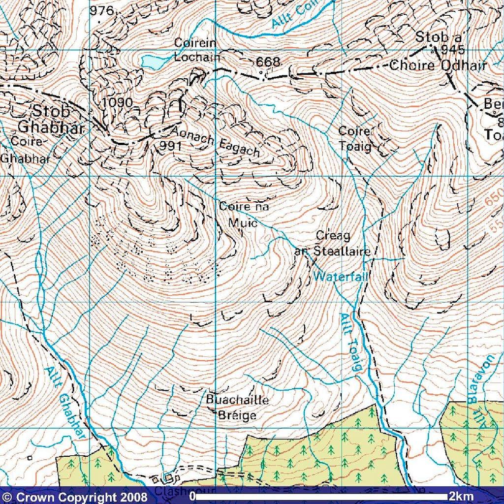 Stob Ghabhar Map