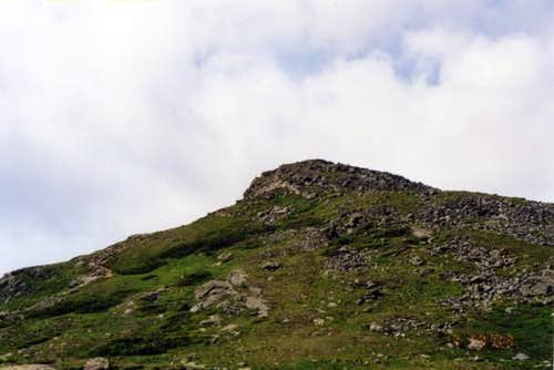Looking up the summit cone of...