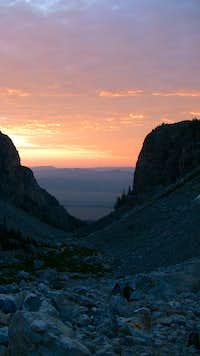Garnet Canyon Sunrise