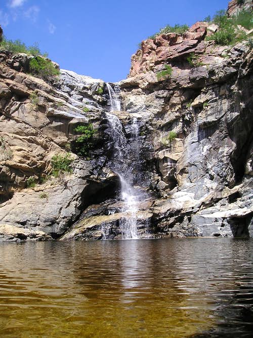 Tanque Verde Falls and pool